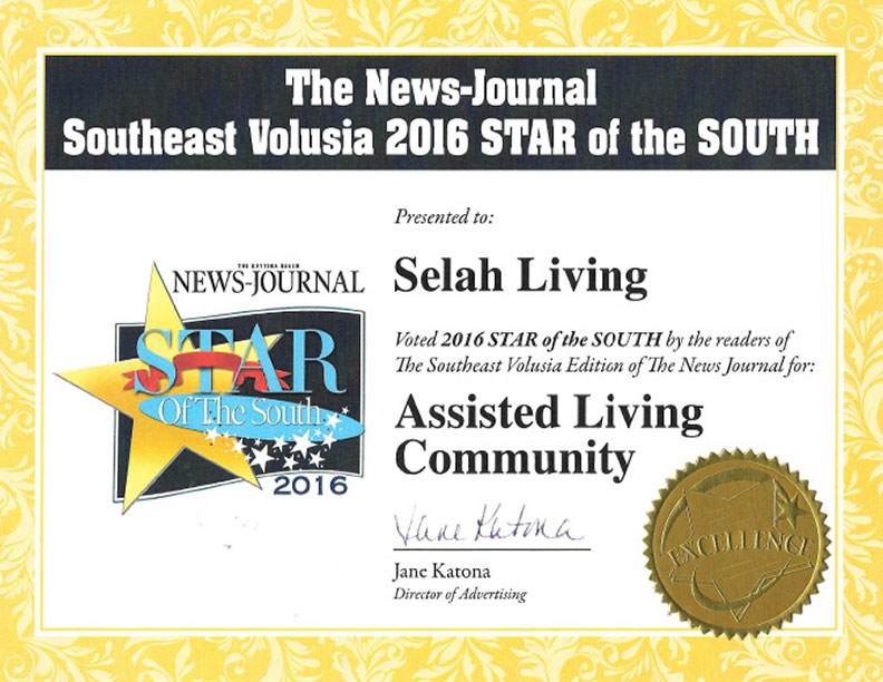 2016 Star of the South Award for Assisted Living Community