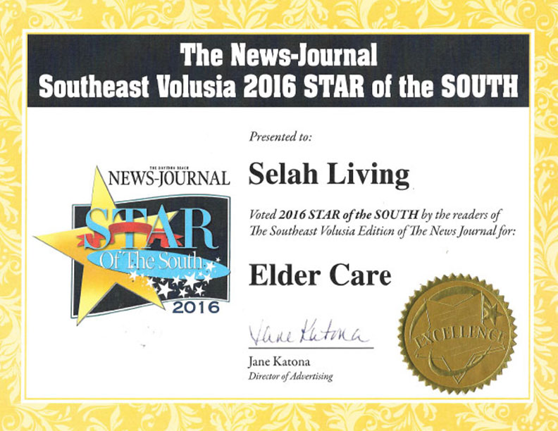 2016 Star of the South Award for Elder Care